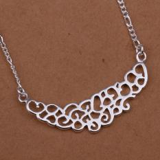 Silver Plated Pendant Necklaces For Women Silver Plated Chain Jewelry N288 Collier Bridal For Wife - Intl