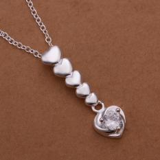 Silver Plated Pendant Necklaces For Women Silver Plated Chain Jewelry N307 Collier Bridal For Wife - Intl