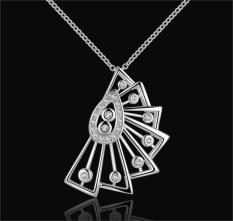 Silver Plated Pendant Necklaces For Women Silver Plated Chain Jewelry N501 Wholesale High Quality Minimalistic - Intl