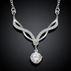 Silver Plated Pendant Necklaces For Women Silver Plated Chain Jewelry N531 Elegant Vintage Factory Price - Intl