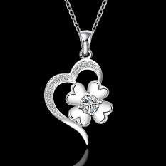 Silver Plated Pendant Necklaces For Women Silver Plated Chain Jewelry N573 Bridal Classic For Day Wear - Intl