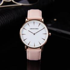 Simple Fashion Slim Belt Watch (Pink) - intl