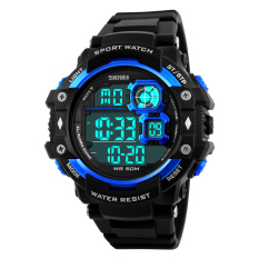 SimpleHome Skmei 1118 Men Personality Big Dial Waterproof Outdoor Sports Multifunction Electronic Watch Red