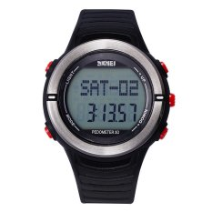 SimpleHome SKMEI Brand Electronic Watch With Calendar Week Shows Men's Sports Watch-Red