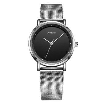 SINOBI 2016 New Fashion Couple Watches Quartz Round Simple Dot Scale PU Leather/Alloy Band