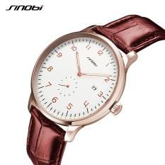 SINOBI 9538 Classic Men s Wrist Watches Leather Watchband Casual Business Quartz Clock .