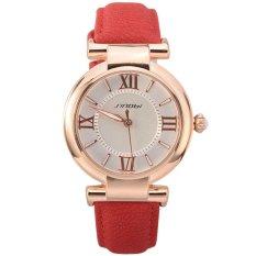 SINOBI Brand PU Leather Strap Analog Display Women Dress Watch Fashion Casual Watch Women's Wristwatch