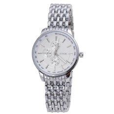 Sinobi Lovers Women Grade Alloy Watches Business Casual False Three Dial, (White)