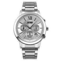 SKMEI 0097 Men's Waterproof Stainless Steel Quartz Wristwatch (Intl)