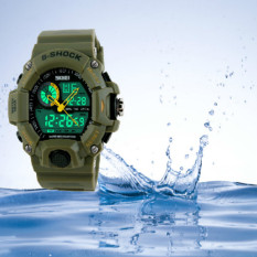 Skmei 1029 Men Sports Watches Waterproof Casual Quartz Watch Digital Man Analog Military Multifunctional Wristwatches Army Green