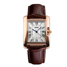 Skmei 1085A Business Rome Dial Square Watch Brown (Intl)
