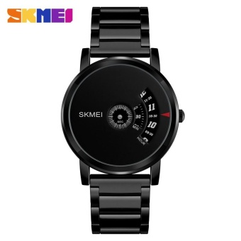 SKMEI 1260 pria quartz Watch tahan air baja Watch Male Clock hitam