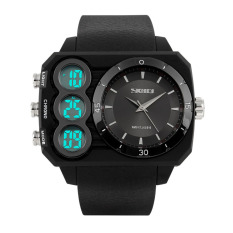 SKMEI 2016 New Fashion Men's Brand Sports Watch LED Digital Stopwatch Multi-functional Outdoor Military Dress Wristwatch Casual Mens Military Watches - Intl
