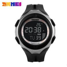 SKMEI Brand Outdoor Sports Watches Men Women Digital Watch Multifunction Temperature Waterproof Casual Wristwatch (Black)