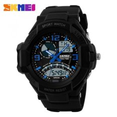 SKMEI Casio Men Sport LED Watch Water Resistant 50m - AD1017 - Blue