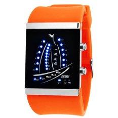 Skmei Electronic Jelly 30m Waterproof Digital Lovers Watch (Orange) 1001