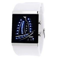 Skmei Electronic Jelly 30m Waterproof Digital Lovers Watch (White) 1001