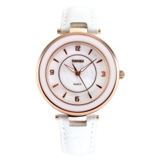 SKMEI Fashion Casual Ladies Leather Strap Watch Water Resistant 30m - 1059CL - Putih