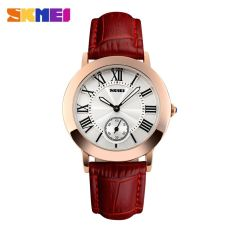 SKMEI Fashion Casual Ladies Leather Strap Watch Water Resistant 30m - 1083CL - Red