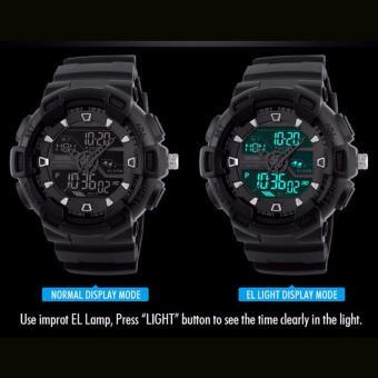 SKMEI Jam Digital Pria Multifungsi 50 M LED Tahan Air Olahraga Santai Militer Jam Tangan Pria