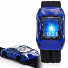 SKMEI - Jam Tangan Anak - Hitam Biru - Rubber Strap - Speed Car Watch