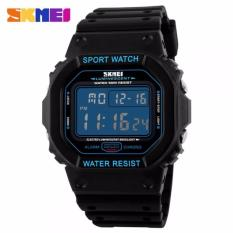 SKMEI Jam Tangan Pria Digital Sport Rubber LED Watch Water Resistant 50m DG1134 Tali Karet Silicone - Hitam