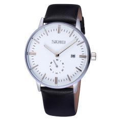 SKMEI Luxury Brand Watches Male Date Fashion Casual Quartz Watch Classic Genuine Leather Strap Men Wristwatch Relogio Masculino 2016