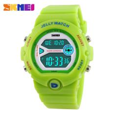 Skmei Luxury Brand Women Sport Watches LED Electronic Digital Watch 50M Waterproof Outdoor Dress Wristwatches (Green)