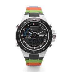 SKMEI Men Dual Display Waterproof Multi-function LED Sports Watch (Black)