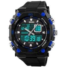 SKMEI Casio Men Sport LED Watch Water Resistant 50m - AD1092 - Hitam Biru