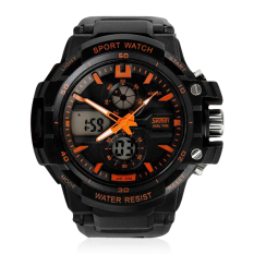 Skmei Men Watch Digital Analog Fashion Brand Sports S Shock Watches (Orange) (Intl)
