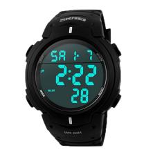 NiceEshop SKMEI Mens Digital LCD Screen Outdoor Wrist Watches (Black)