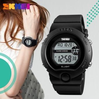 SKMEI Baru Wanita Digital Jam Tangan Mewah Merek LED Elektronik Olahraga Jam Tangan Anti-Air