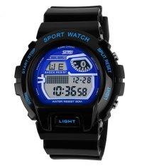 SKMEI Outdoor Sports OLA-SK1010C Multifunctional Waterproof Digital Display Watch Blue - Intl