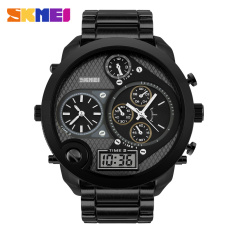 Skmei pasang dual display menonton bisnis jam tangan pria