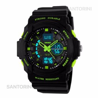 SKMEI Pria Jam Tangan Skmei Olahraga Militer Tahan Air Analog Digital LED Multifungsi Waterproof Sports Men Watch - GREEN