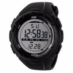 SKMEI S-Shock Digital Sport Watch Water Resistant 50m Jam Tangan Unisex Tali Strap Rubber Karet Silicone - Hitam