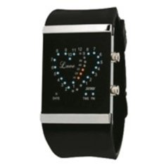 SKMEI Silicon Wristband LED Watch Water Resistant 30m - Jam LED Gelang - 0952A - Hitam