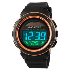 SKMEI Solar Power Sport LED Watch Water Resistant 50m DG1096 Jam Tangan Fashion Kasual Pria