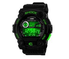 NiceEshop SKMEI Unisex Fashion Multifunction Digital Wrist Watches (Black)