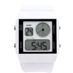 SKMEI Unisex Loves Sport Waterproof Rubber Strap Wrist Watch - White 0841 (Intl)