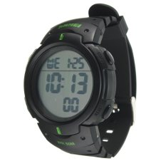 SKMEI 1068 Unisex Waterproof LED Light Rubber Digital Wrist Watch