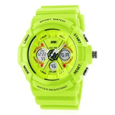 Skmei Women Digital Watch Multi-function Digital Analog LED Watches (Green) (Intl)