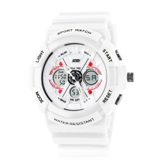 Skmei Women's Digital Watch Multi-function Digital Analog LED Watches (White) (Intl)