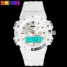 SKMEI 0821 Dual Time High Quality Quartz-Digital Wristwatch Excellent 5ATM Water Resistant AnalogDigital Outdoor Sports Watch - intl