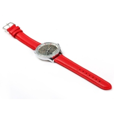 SKONE 5082 Women Quartz Imitation Diamond Wrist Watch Red (Intl)
