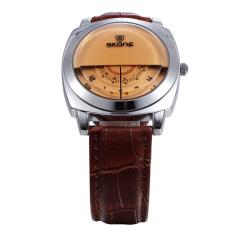 SKONE Fashion Men's Watches Luxury Quartz Watch Men Leather Wristwatch (Intl)