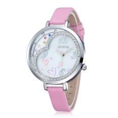 SKONE Brand New Ladies Quartz Watch Women Rhinestone Wristwatch Fashion Casual Watch Dress Watch- Pink