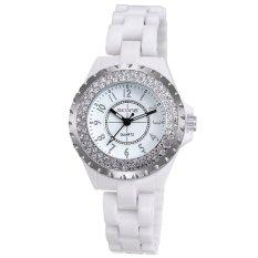 SKONE Fashion Cool Ceramic Waterproof Watchband Vintage Excellent Rhinestone Embedded Delicate Wristwatch (Intl)