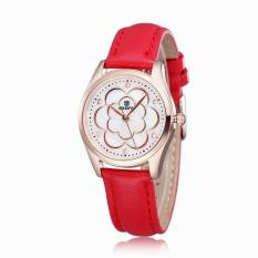 Skone Reloj Mujer 2016 Fashion Leather Watches Women Quartz Casual Watch (Red) (Intl)